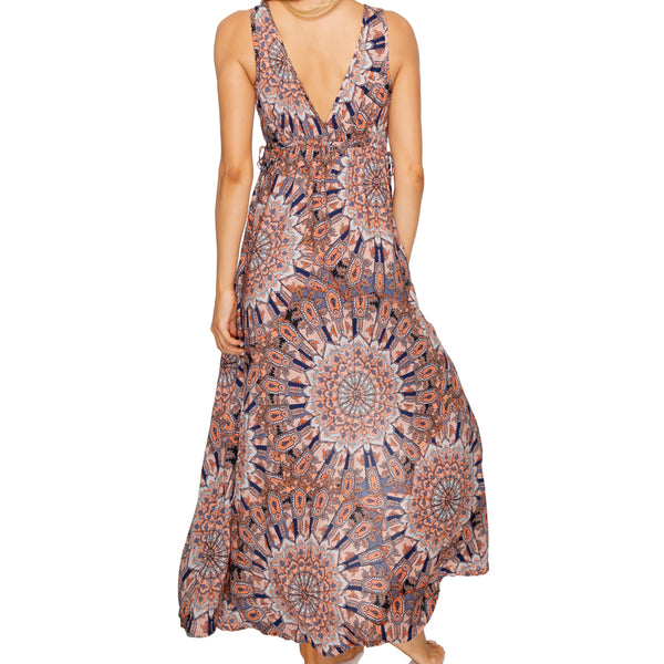 LA REINA DEL SUR - V Neck Long Dress