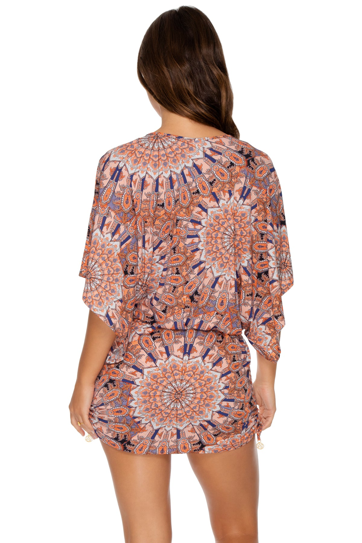 LA REINA DEL SUR - Cabana V Neck Dress • Multicolor