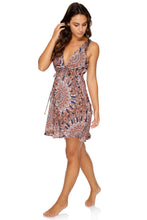 LA REINA DEL SUR - V Neck Short Dress • Multicolor