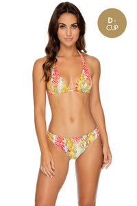 SMOKE SHOW - Triangle Halter Top & Full Bottom • Multicolor