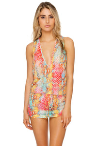 SMOKE SHOW - T Back Mini Dress • Multicolor