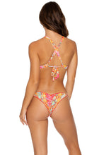 SMOKE SHOW - Molded Push Up Bandeau Halter Top & Strappy Brazilian Ruched Back Bottom • Multicolor