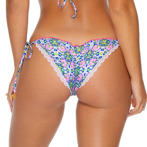 ANGEL FACE - Wavey Ruched Back Brazilian Tie Side Bottom