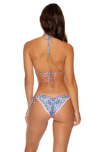 ANGEL FACE - Triangle Top & Wavey Ruched Back Tie Side Bottom • Multicolor