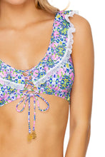 ANGEL FACE - Laced Up Ruffle Bralette & Moderate Bottom • Multicolor