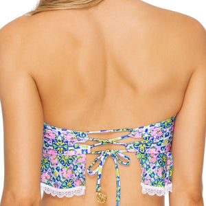 ANGEL FACE - Lace Trim Bandeau Crop Top