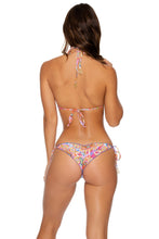RAYANDO EL SOL - Triangle Top & Wavey Ruched Back Tie Side Bottom • Multicolor