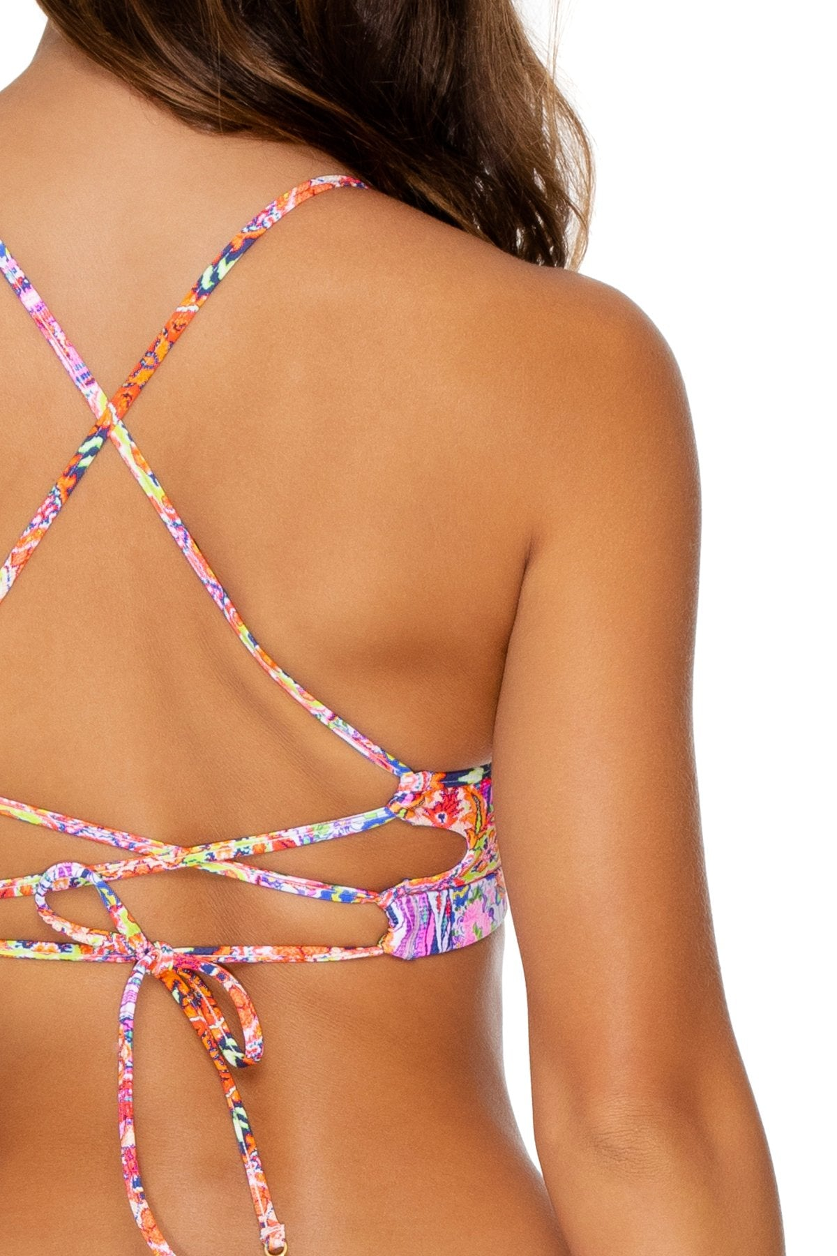 RAYANDO EL SOL - Underwire Top & Drawstring Side  Bottom • Multicolor