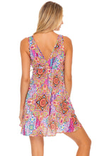 RAYANDO EL SOL - V Neck Short Dress • Multicolor