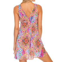 RAYANDO EL SOL - V Neck Short Dress