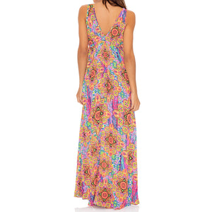 RAYANDO EL SOL - V Neck Long Dress