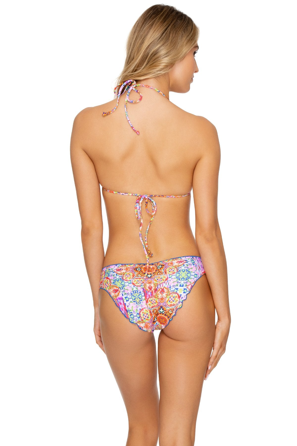 RAYANDO EL SOL - Bandeau Top & Seamless Full Ruched Back Bottom • Multicolor