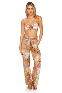 SALTY BUT SWEET - Bandeau Top & Paper Bag Pants • Multicolor