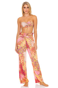 GYPSY DREAM - Bandeau Top & Paper Bag Pants • Buttercream