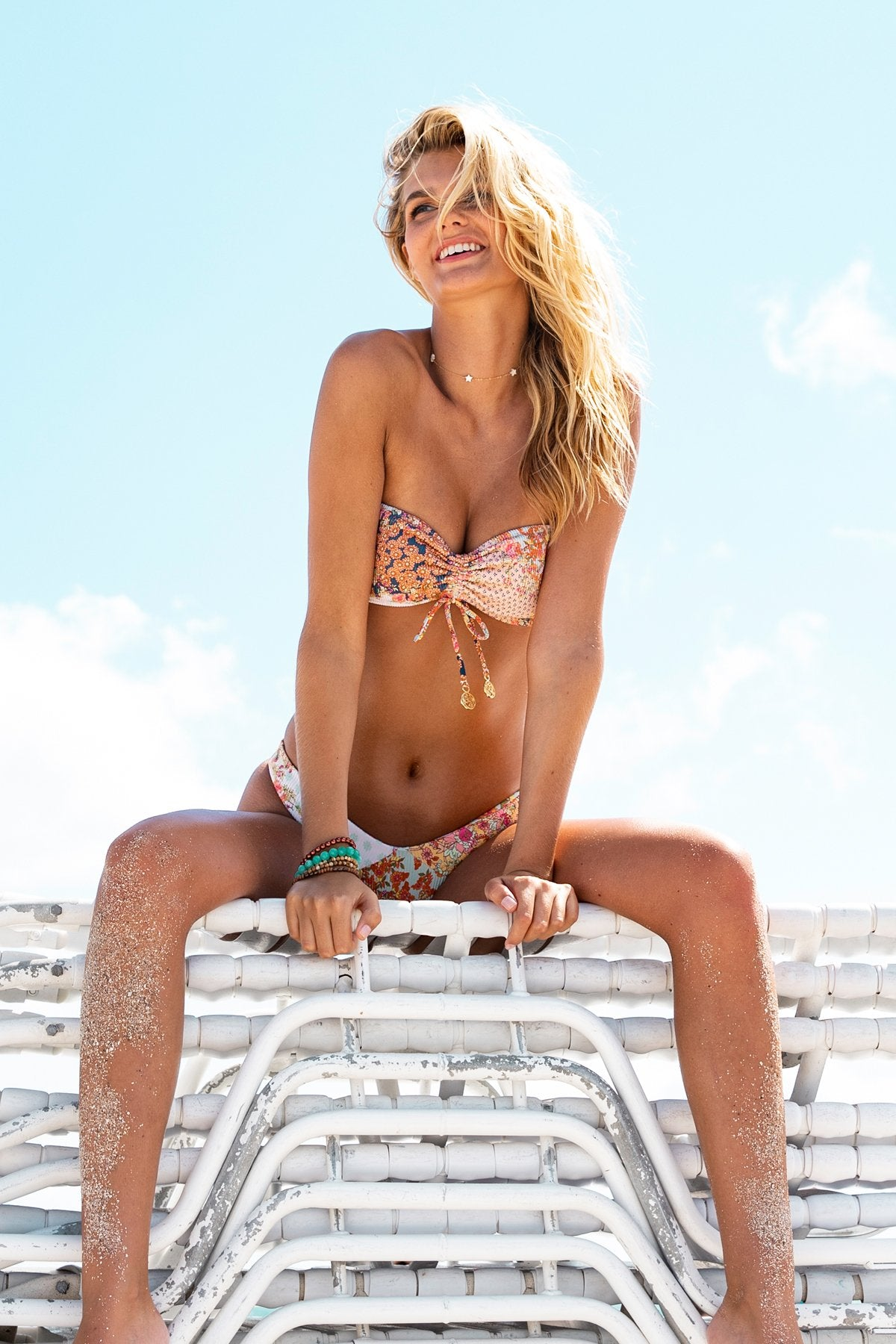 SALTY BUT SWEET - Bandeau Top & Tab Side High Leg Bottom • Multicolor Campaign