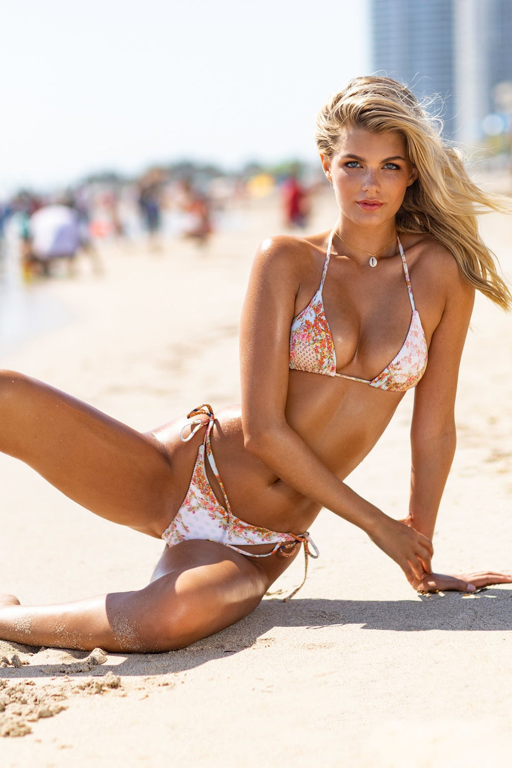 SALTY BUT SWEET - Triangle Top & Wavey Ruched Back Tie Side Bottom • Multicolor Campaign