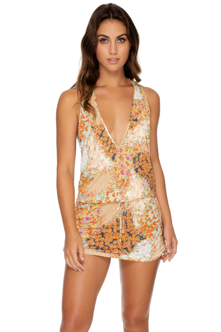 SALTY BUT SWEET - T Back Mini Dress • Multicolor
