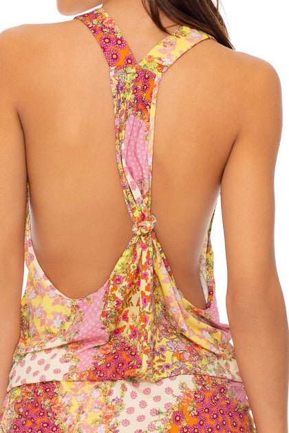 GYPSY DREAM - T Back Mini Dress • Buttercream