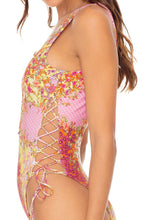 GYPSY DREAM - Open Side One Piece Bodysuit • Buttercream