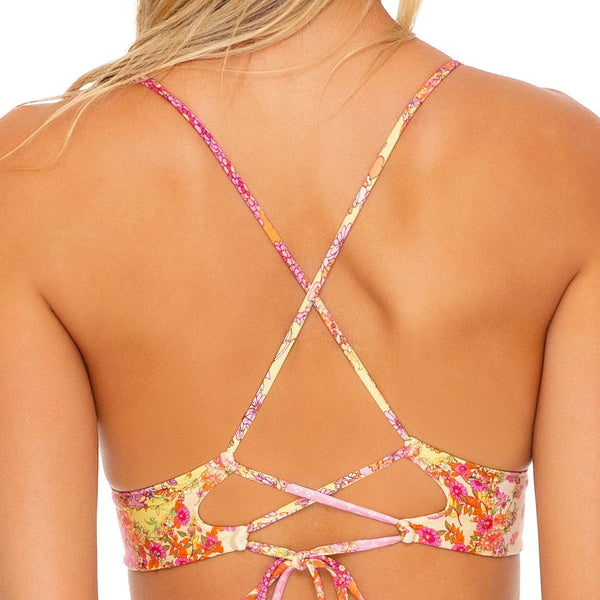 GYPSY DREAM - Halter Cross Back Bustier Top