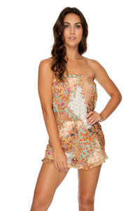 SALTY BUT SWEET - Strapless Ruffle Romper • Multicolor