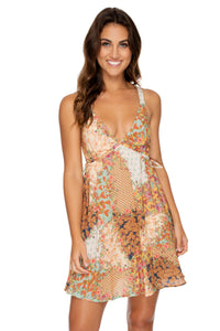 SALTY BUT SWEET - V Neck Short Dress • Multicolor