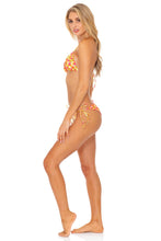 DESERT ANGEL - Triangle Top  & Wavey Ruched Back Tie Side Bottom • Buttercream