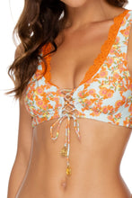 FOREVER MERMAIDS - Lace Up Bralette & Drawstring Side Full Bottom • Multicolor