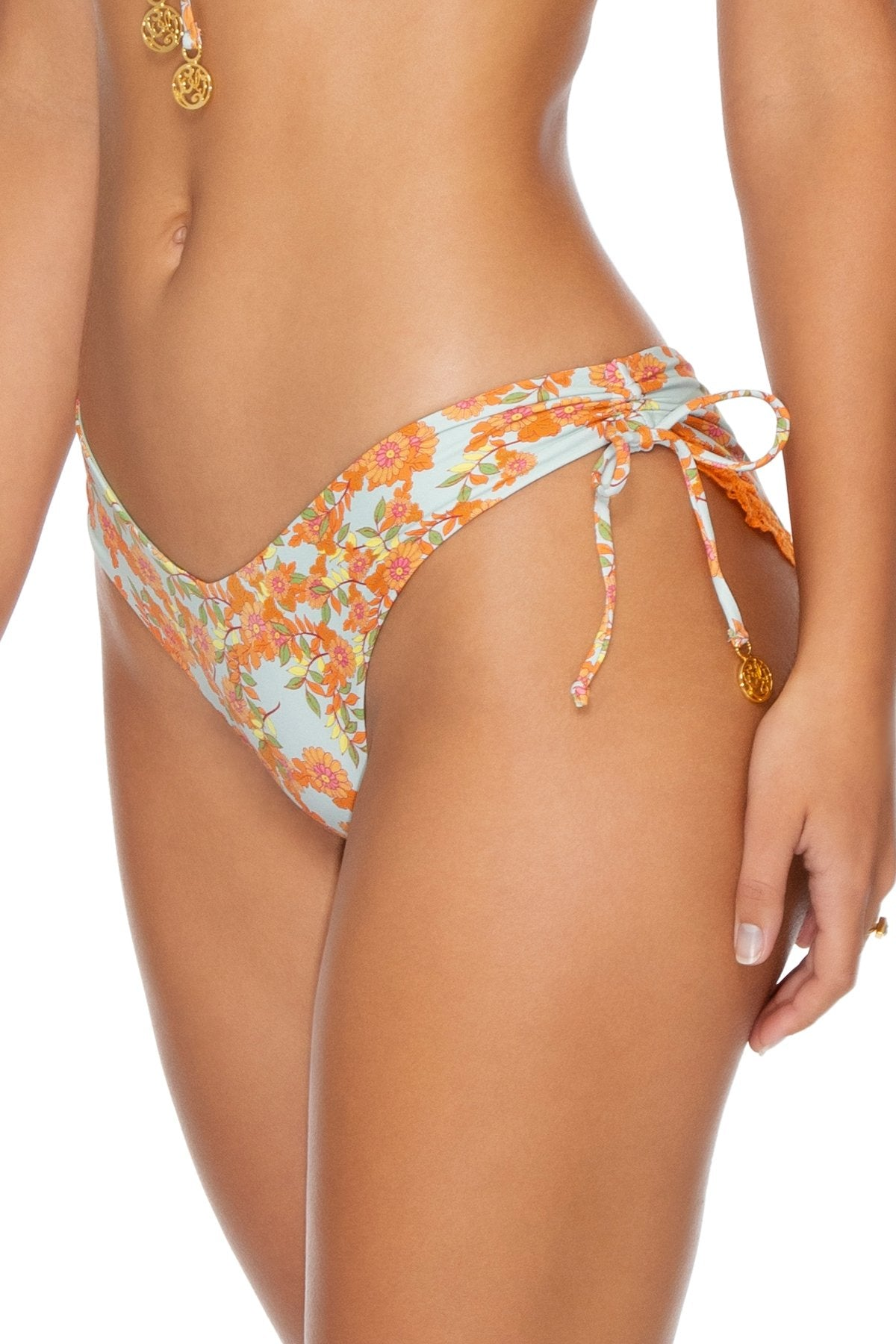FOREVER MERMAIDS - Bandeau Top & Drawstring Side Moderate Bottom • Multicolor
