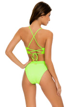 LULI BABE IN MIAMI - Underwire Top & High Leg Banded Waist Bottom • Neon Lime