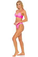 LULI BABE IN MIAMI - Underwire Top & High Leg Banded Waist Bottom • Barbie Pink