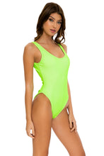 LULI BABE IN MIAMI - Tank One Piece • Neon Lime