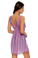 PLAY TIME - V Neck Short Dress • Multi Royal