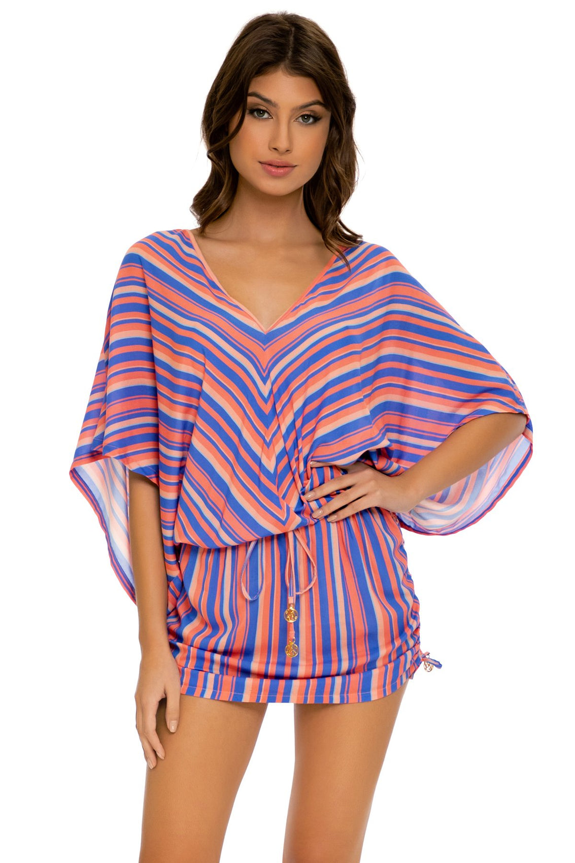 PLAY TIME - Cabana V Neck Dress • Multi Royal
