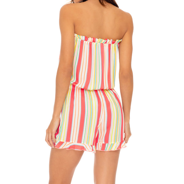 PLAY TIME - Strapless Ruffle Romper