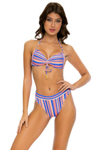 PLAY TIME - Bandeau Top & High Leg Banded Waist Bottom • Multi Royal