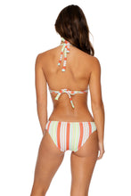 PLAY TIME - Triangle Halter Top & Full Bottom • Multi White