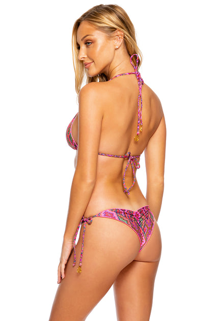 VAMOS A CABOS - Triangle Top & Wavey Ruched Back Tie Side Bottom • Multicolor Runway