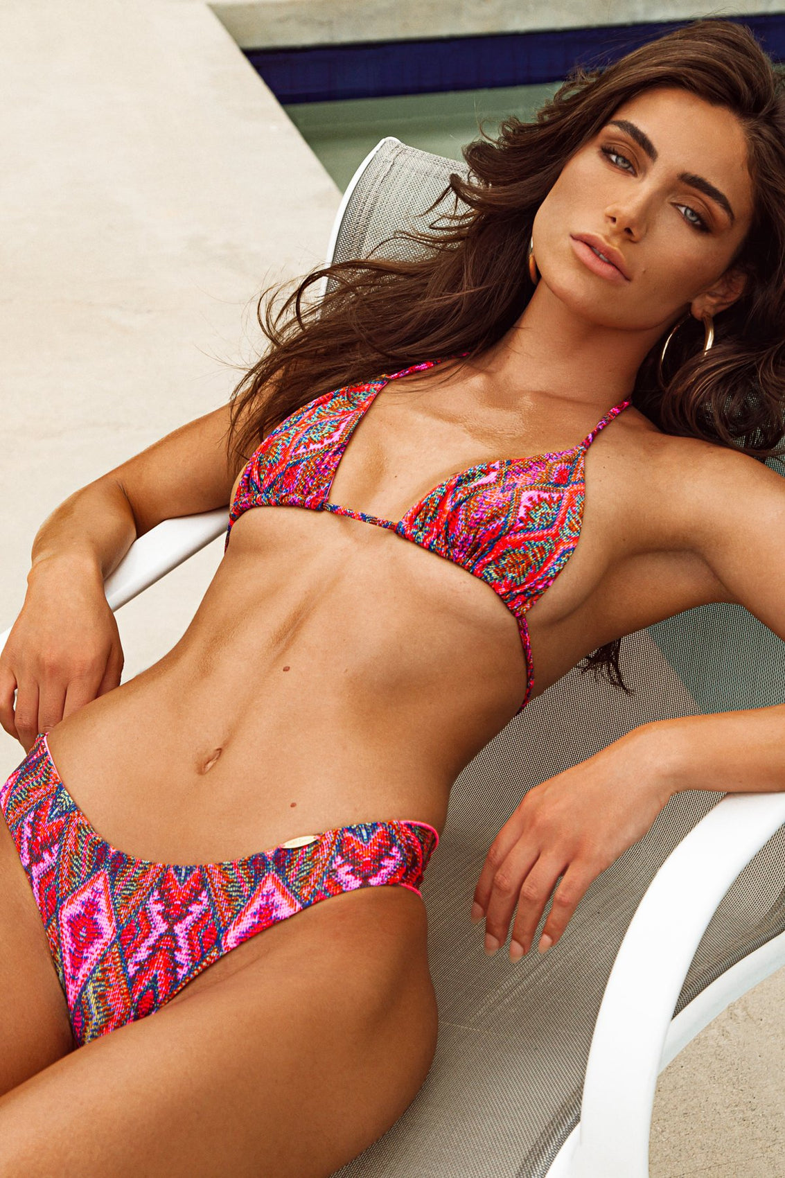 VAMOS A CABOS - Triangle Top & Seamless Wavey Ruched Back Bottom • Multicolor Campaign