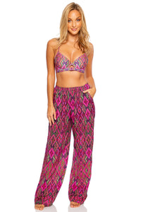 VAMOS A CABOS - Underwire Top & Flare Bottom Pants • Multicolor