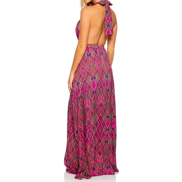 VAMOS A CABOS - Deep Plunge Long Dress