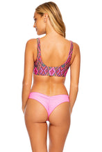VAMOS A CABOS - Lace Up Bralette & Seamless Wavey Ruched Back Bottom • Multicolor