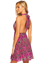 VAMOS A CABOS - Deep Plunge Mini Dress • Multicolor Runway