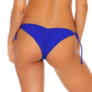 LAST FLING - Wavey Ruched Back Brazilian Tie Side Bottom