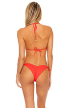 LAST FLING - Triangle Top & Wavey Ruched Back Tie Side Bottom • Red Hot
