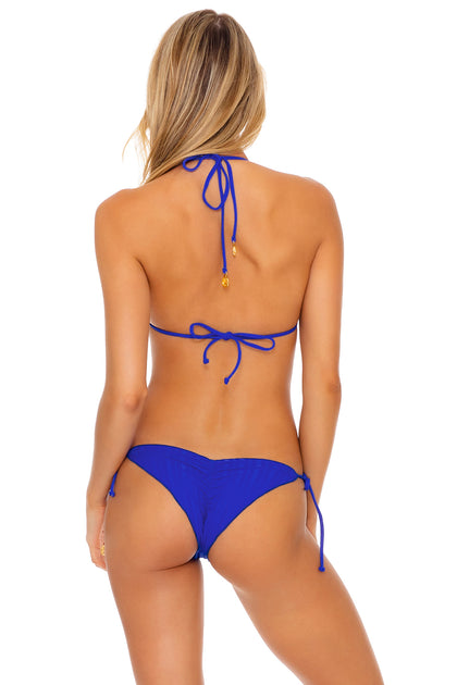 LAST FLING - Triangle Top  & Wavey Ruched Back Tie Side Bottom • Something Blue