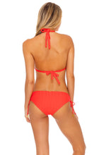 LAST FLING - Triangle Halter Top & Drawstring Side Full Bottom • Red Hot