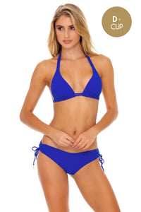 LAST FLING - Triangle Halter Top & Drawstring Side Full Bottom • Something Blue