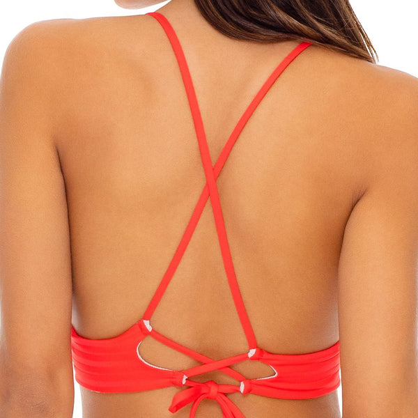 LAST FLING - Cross Back Bustier Top