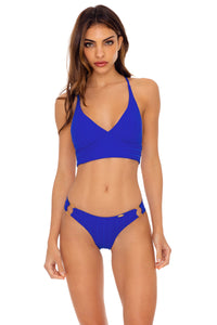 LAST FLING - Cross Back Bustier Top & Wavey Ruched Back  Bottom • Something Blue
